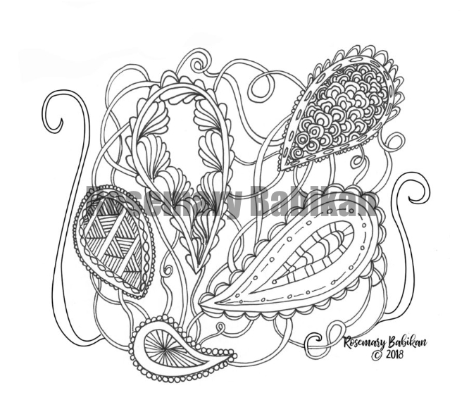 adult coloring design for free download